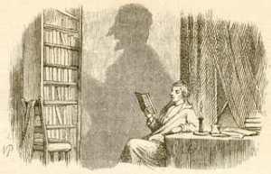 アンデルセン童話「影法師」の挿絵